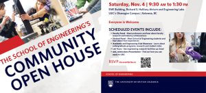 2017 Community Open House is November 4, 2017 from 9:30am-1:30pm