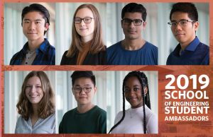 School of Engineering Unveils 2019 Student Ambassadors