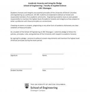 Students sign integrity pledge