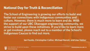 Recognizing the National Day for Truth & Reconciliation